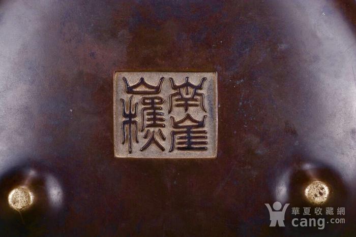 旧藏铜胎凤耳香炉图9