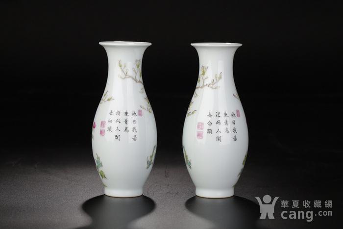 清代雍正粉彩玉兰牡丹花鸟瓶图8