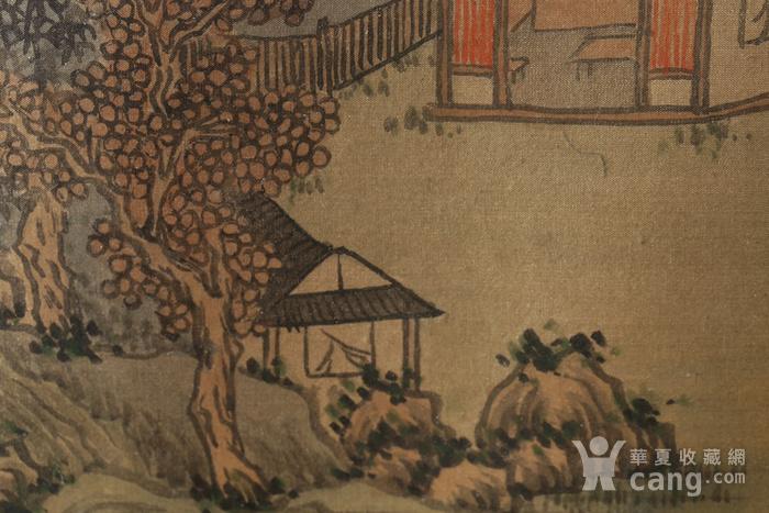 清代绢本山水斗方图1
