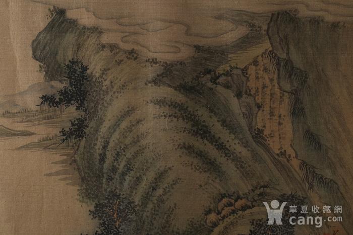 清代绢本山水斗方图4