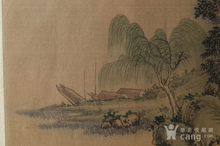 清代绢本山水斗方图6