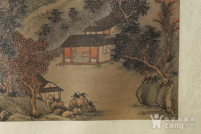 清代绢本山水斗方图7