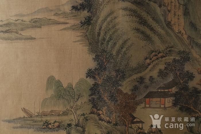 清代绢本山水斗方图5