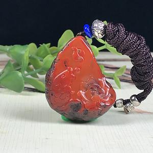 南红玛瑙  包浆料 鲤鱼荷花  连年有余