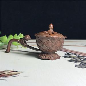 日本回流 铜器 手持香炉