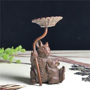 日本回流  铜器  松鼠