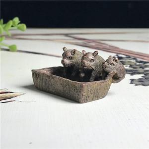日本回流  铜器  三只小猪