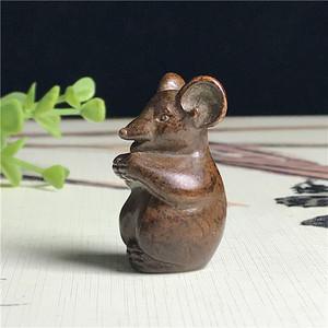 日本回流  铜器  生肖小老鼠