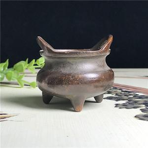 日本回流  铜器  三足双耳鼎