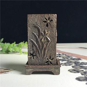 日本回流  铜器  梅兰竹菊 香炉