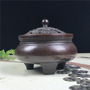 日本铜器回流  麒麟香炉