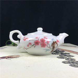 日本 瓷器 回流  水点桃花  茶壶