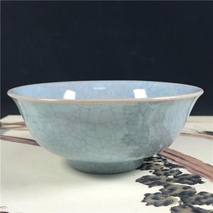 日本瓷器回流  天青釉碗冰裂纹开片小碗