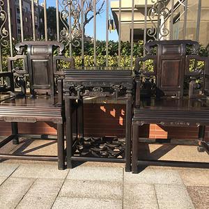 大尺寸苏式紫檀木太师椅