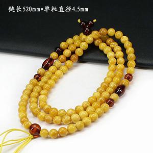 天然蜜蜡圆珠挂链0709