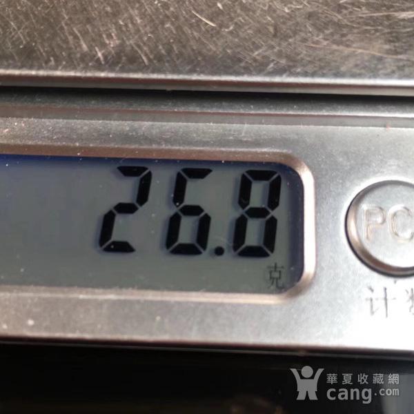 天然保山冰红戒面总重26.8克图7