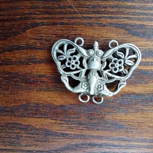 旧藏银蝴蝶一件