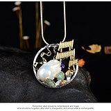 设计师手作 天然巴洛克珍珠扬帆起航吊坠胸针两用