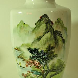 纯手绘567广东地区瓷赏瓶