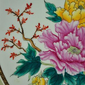 中国潮彩手绘赏盘