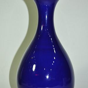 90年代蓝釉玉壶春瓶