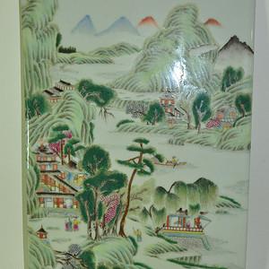 几十年瓷板画
