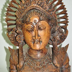 清末民国硬木雕刻佛像