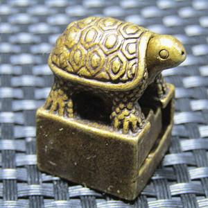 唐老铜打造 玄武印章 包浆厚重