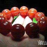 开门到代 晚清时期 正宗 保山南红 柿子红 福瓜珠