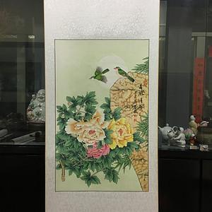 联盟 秦薇作品 花鸟 春风得意一副