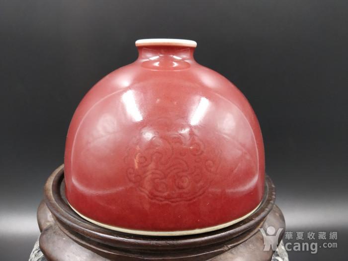 收藏级 团龙纹豇豆红太白尊图1