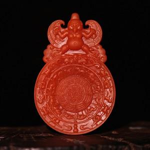 南红玛瑙 九宫格牌 瓦西料 苏工 满色满肉 雕工精湛
