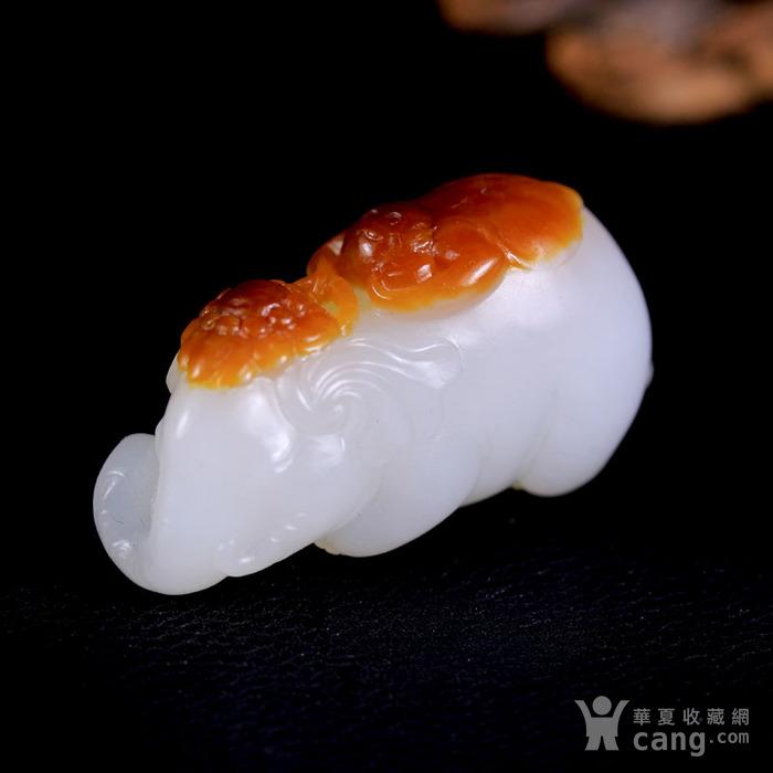 新疆和田玉籽料羊脂白玉把件 称相拜侯图4