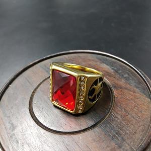红宝k金指环