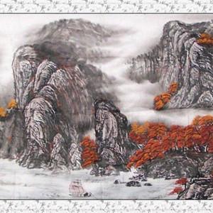 联盟 中国书画名家陈克勇大幅面厅堂国画