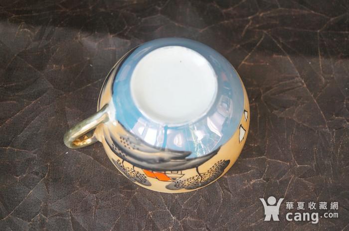 日本手绘超薄胎下午茶杯