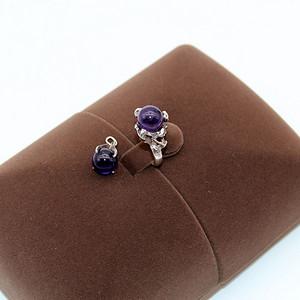 金牌 银镶紫水晶套装