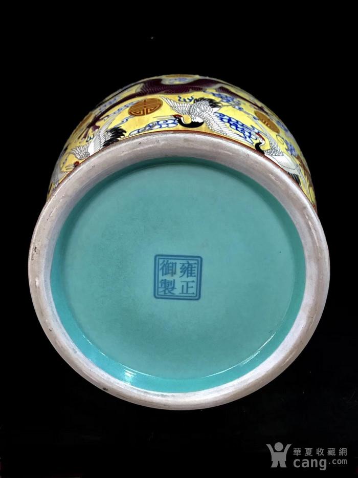 精品本金珐琅彩五龙寿字纹象耳瓶一对图9