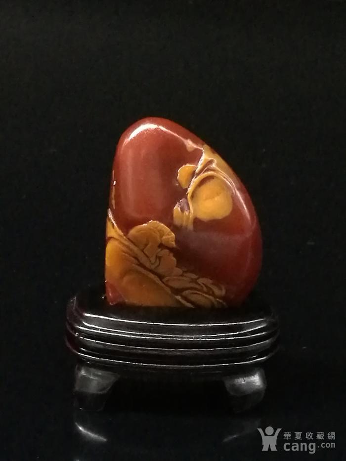 寿山石田黄石薄意浮雕摆件6 石质温润 萝卜纹隐隐可见图1