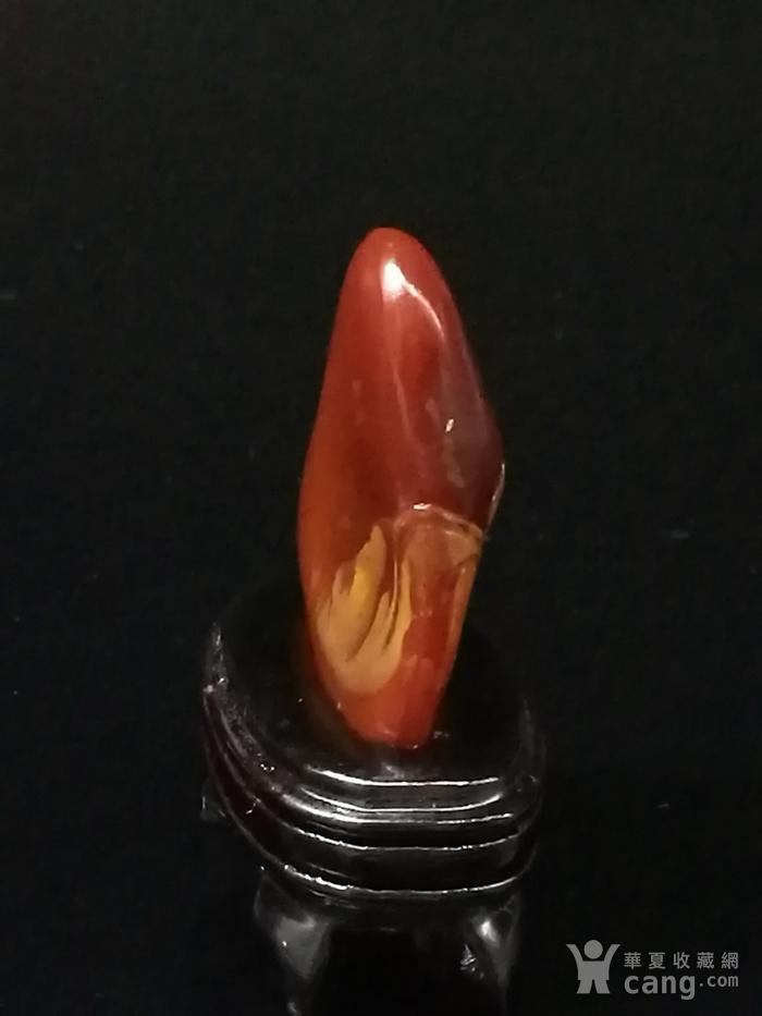 寿山石田黄石薄意浮雕摆件6 石质温润 萝卜纹隐隐可见图5