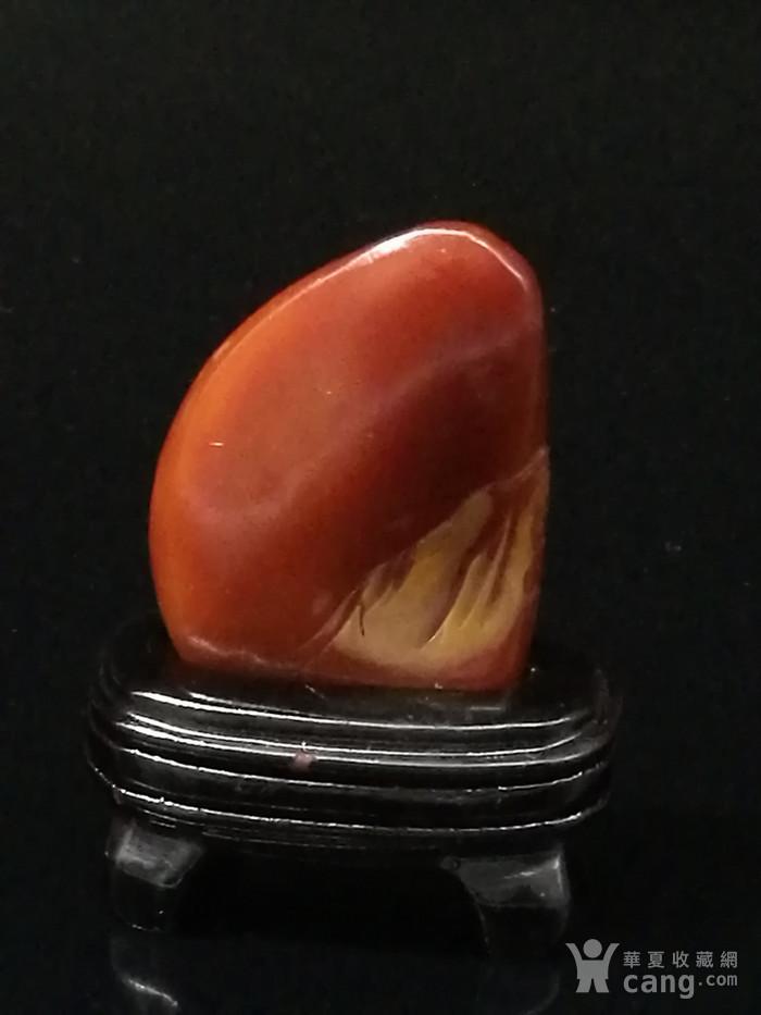 寿山石田黄石薄意浮雕摆件6 石质温润 萝卜纹隐隐可见图6