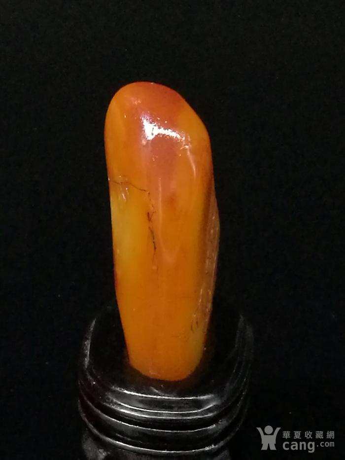寿山石田黄石薄意浮雕摆件63 石质温润 萝卜纹隐隐可见图5
