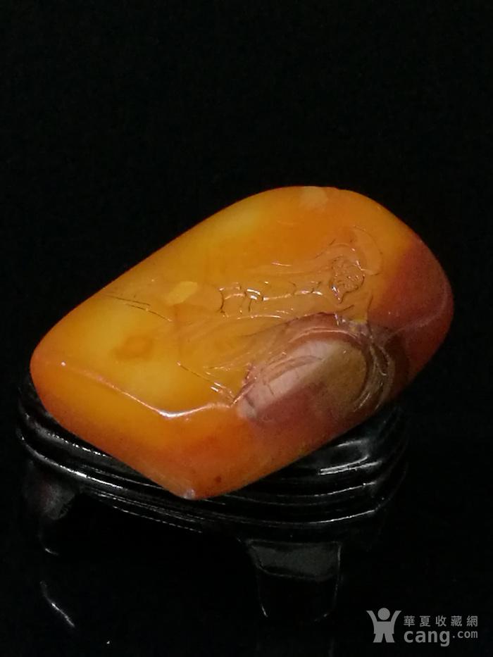 寿山石田黄石薄意浮雕摆件63 石质温润 萝卜纹隐隐可见图8