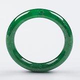 缅甸翡翠好种满阳绿圆条手镯52.44g