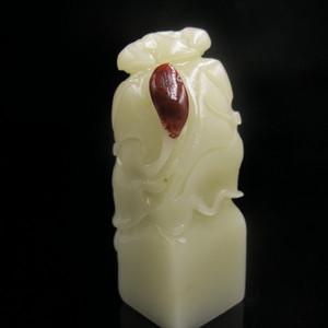 精典收藏 寿山珍品寿山山顶耦尖白芙蓉大章4536 结晶体芙蓉