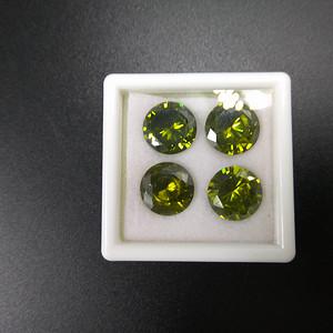 天然绿宝石裸石4粒
