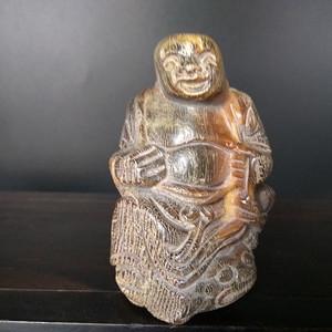明清籽角雕 刘海戏金蟾