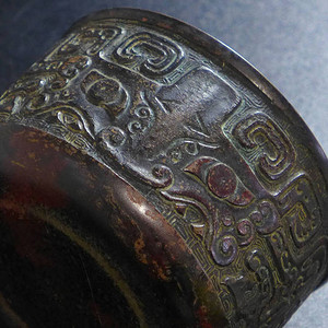民国,饕餮纹铜钵