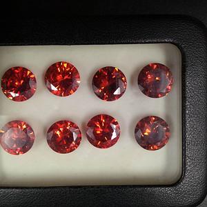天然红宝石裸石9粒