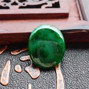 冰润辣绿戒指蛋面